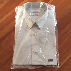 Calvin Klein Men's Slim-Fit Non-Iron Dress Shirt